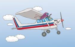 Vriendschappelijk Vliegtuig Royalty-vrije Stock Afbeeldingen
