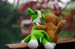 Vriendschappelijk zacht speelgoed Stock Foto's