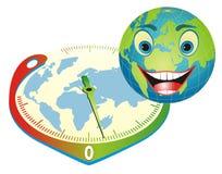 Vriendschappelijke Aarde. De juiste manier om onze planeet te bewaren. Stock Foto