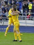 Vriendschappelijke de voetbalgelijke van de Oekraïne - van Litouwen Royalty-vrije Stock Foto
