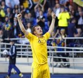 Vriendschappelijke de voetbalgelijke van de Oekraïne - van Litouwen Royalty-vrije Stock Fotografie
