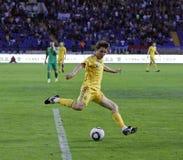 Vriendschappelijke de voetbalgelijke van de Oekraïne - van Litouwen Royalty-vrije Stock Foto's