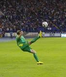 Vriendschappelijke de voetbalgelijke van de Oekraïne - van Litouwen Stock Afbeelding