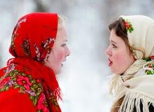 Vriendschappelijke dialoog Stock Foto