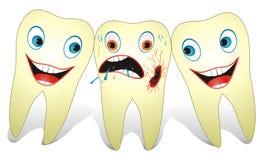 Vriendschappelijke en Vijandige Tanden Stock Foto's