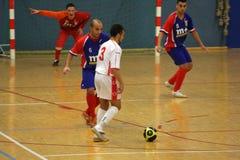 Vriendschappelijke futsal gelijke Frankrijk versus Belgique Stock Foto's