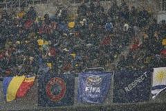 Vriendschappelijke Gelijke Roemenië-Uruguay Stock Afbeeldingen