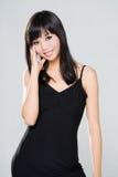 Vriendschappelijke glimlach van Aziatische vrouw royalty-vrije stock foto