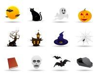 Vriendschappelijke het pictogramreeks van Halloween Royalty-vrije Stock Afbeeldingen