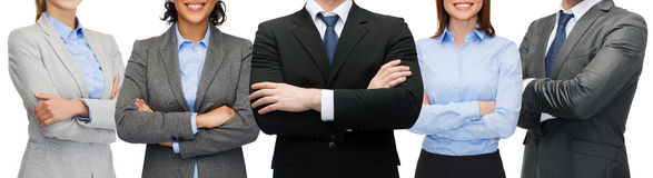 Vriendschappelijke internationale commerciële team of groep Royalty-vrije Stock Afbeeldingen