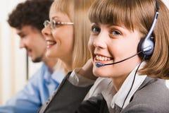 Vriendschappelijke klantenondersteuning Stock Foto