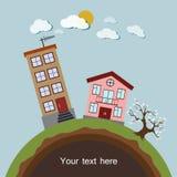 Vriendschappelijke kleine Planeet Vector illustratie Stock Foto's