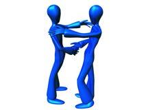 Vriendschappelijke Metaal Blauwe Jongen Stock Afbeeldingen