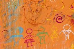 Vriendschappelijke op-muurgraffity Royalty-vrije Stock Foto