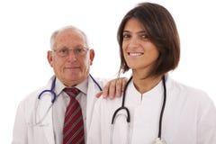 Vriendschappelijke team artsen Stock Afbeeldingen