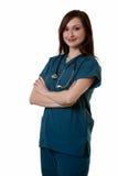 Vriendschappelijke verpleegster stock foto's
