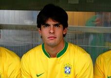 Vriendschappelijke voetbalgelijke Brazilië versus Algerije Stock Afbeeldingen