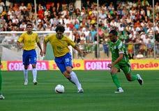 Vriendschappelijke voetbalgelijke Brazilië versus Algerije Royalty-vrije Stock Foto