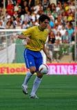 Vriendschappelijke voetbalgelijke Brazilië versus Algerije Stock Afbeelding