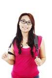 Vriendschappelijke vrouwelijke student Royalty-vrije Stock Foto's