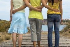 Vriendschappelijke womans stock foto's