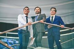 Vriendschappelijke zakenlieden Royalty-vrije Stock Afbeelding