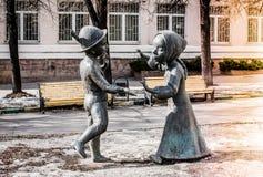 Vriendschaps voor altijd monument in Moskou Stock Afbeelding
