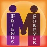 Vriendschaps voor altijd vectorart. Stock Fotografie