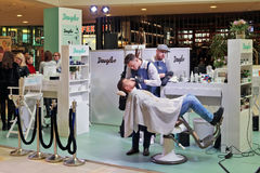 Vrij aandeel - het snijden haar en make-up Royalty-vrije Stock Foto's