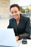 Vrij Afrikaanse BedrijfsVrouw Stock Afbeelding