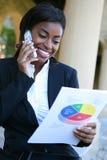 Vrij Afrikaanse Vrouw bij Universiteit Stock Foto