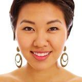 Vrij Aziatisch vrouwengezicht Stock Foto's