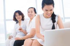 Vrij Aziatische familie Stock Fotografie