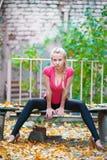 Vrij blond meisje Royalty-vrije Stock Fotografie