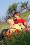 Vrij blonde en jonge mens Stock Foto's