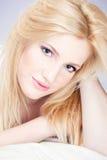 Vrij blonde vrouw Stock Foto's