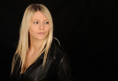 Vrij blonde vrouw Royalty-vrije Stock Foto's