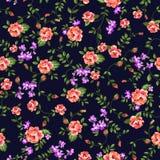 Vrij ditsy rozen Stock Afbeelding