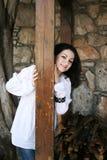 Vrij donkerbruin meisje Stock Foto