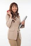 Vrij donkerbruine Aziatische vrouw Stock Afbeelding