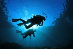 Vrij duiken Royalty-vrije Stock Foto's