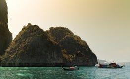 Vrij duikenboten, Phi Phi Island, Thailand stock fotografie