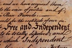 Vrij en Onafhankelijk Royalty-vrije Stock Afbeeldingen