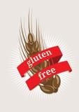 Vrij gluten, embleem of pictogram Stock Afbeelding