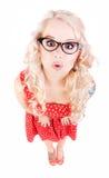 Vrij grappig meisje Stock Foto
