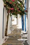 Vrij Griekse Weg, Ios, Griekenland Royalty-vrije Stock Afbeelding