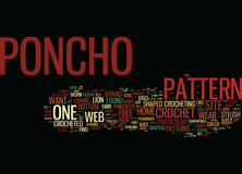 Vrij haak Poncho Patterns Text Background Word-Wolkenconcept Royalty-vrije Stock Fotografie