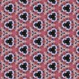 Vrij helder abstract mozaïekpatroon met roze orchideeën op geometrische achtergrond Royalty-vrije Stock Afbeeldingen