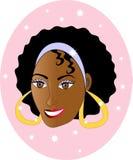 Vrij het Gelukkige Glimlachen van het Meisje. royalty-vrije illustratie