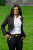 Vrij het Indische meisje glimlachen Stock Afbeelding